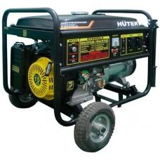 Бензиновый генератор Huter DY8000LX электростартер, с колёсами