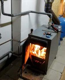 Работающий котел отопления