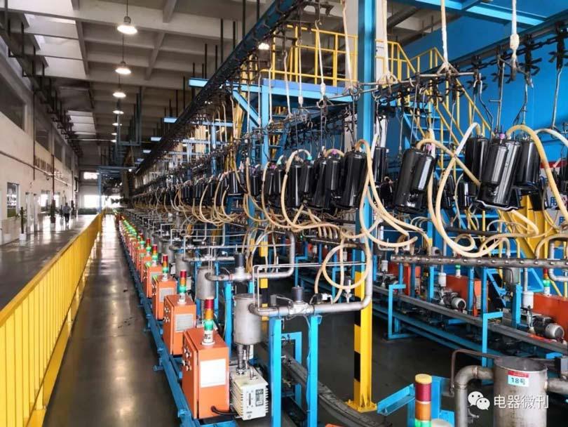 Производственно испытательная линия компрессоров Landa